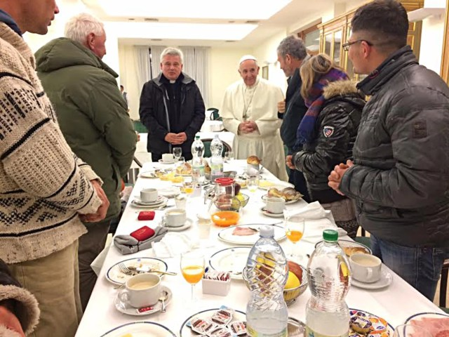 Image result for pope francis 80th birthday homeless