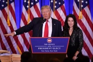 Image: Donald Trump and Sheri Dillon