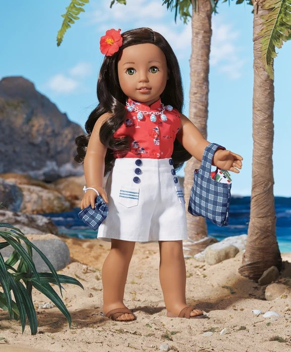 Nanea Mitchell, the new Native Hawaiian American Girl doll.