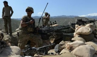 Image: U..S soldiers take up positions in the Achin district of Nangarhar province