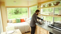 Tour Of 180-square-foot Glass-paneled Tiny