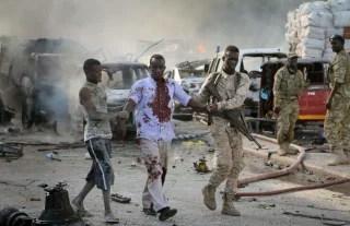 Image: Truck blast in Mogadishu, Somalia