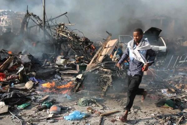 Image: Explosion in Mogadishu, Somalia
