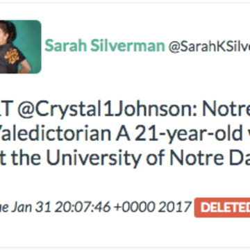 Archive copy of Sarah Silverman's retweet of a Russian-linked troll account