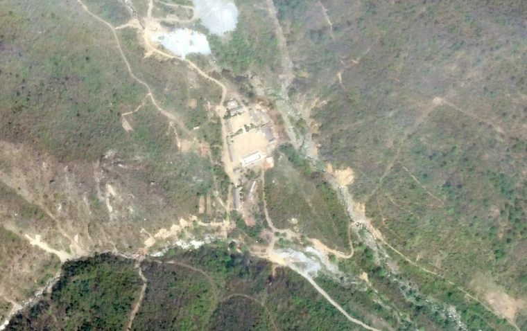 Image: Satellite photo of the Punggye-Ri nuclear test site in North Korea
