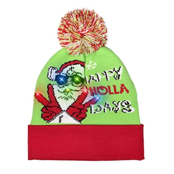 402868caada03 Wmbetter LED Light-up Christmas Beanie. image. Forget ugly Christmas  sweaters
