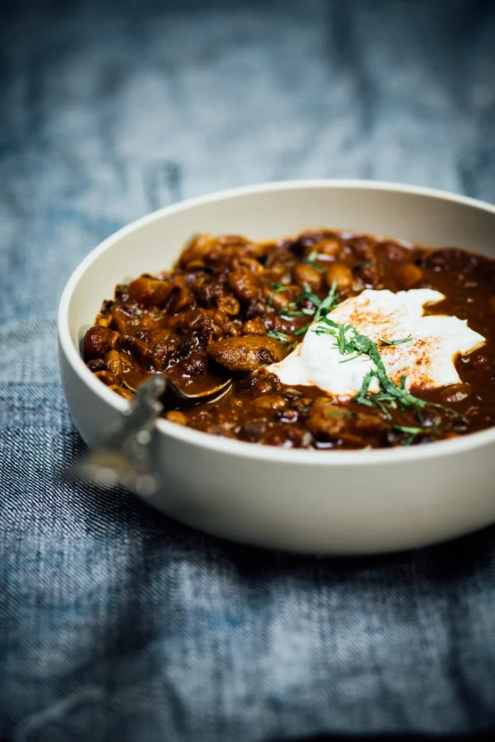Nik Sharma's Cocoa-Spiced Bean and Lentil Chili