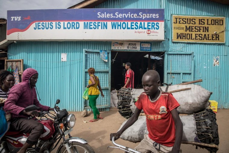 Image: A wholesaler in the Kakuma refugee camp.
