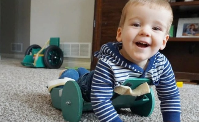 Dad Invents Frog Device To Help 2 Year Old Son With
