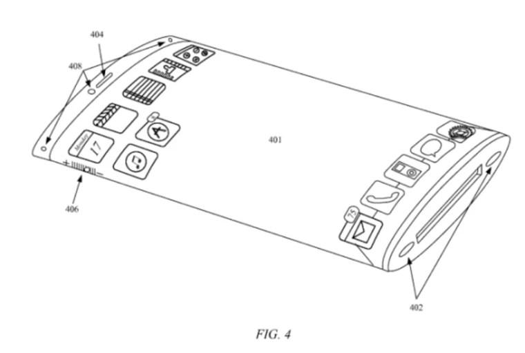 Apple patent reveals future iPhone with wraparound display