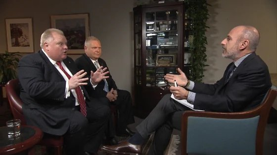 Rob Ford and his brother Doug sat down with Matt Lauer Monday.