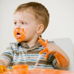 Eating Chair For Toddlers With Built In Bookshelf Why A Messy Baby May Be Brainier - Today.com
