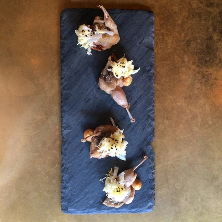 Roasted quail by chef Wylie Dufresne