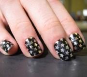 easy cheap metallic star nail