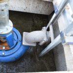 Pumpbrunn med DRP 400 gödselpump pumpning 350 m