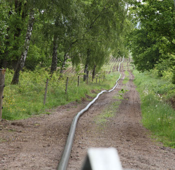2 km utlagd slang för pumpning