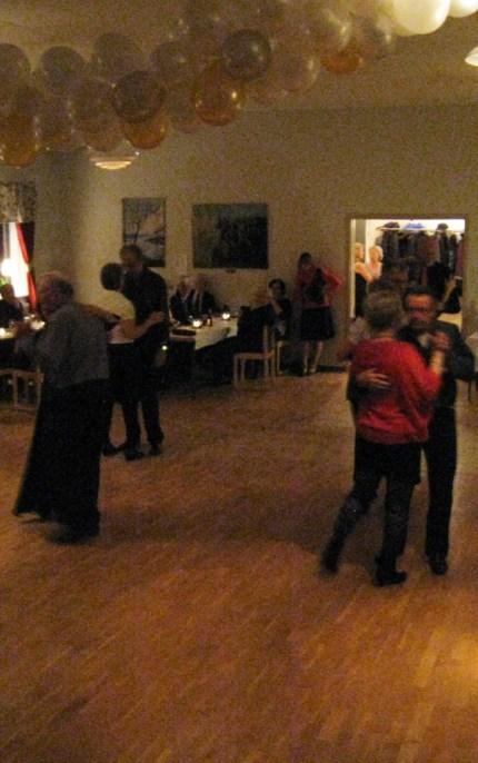Kvällen avslutades med dans