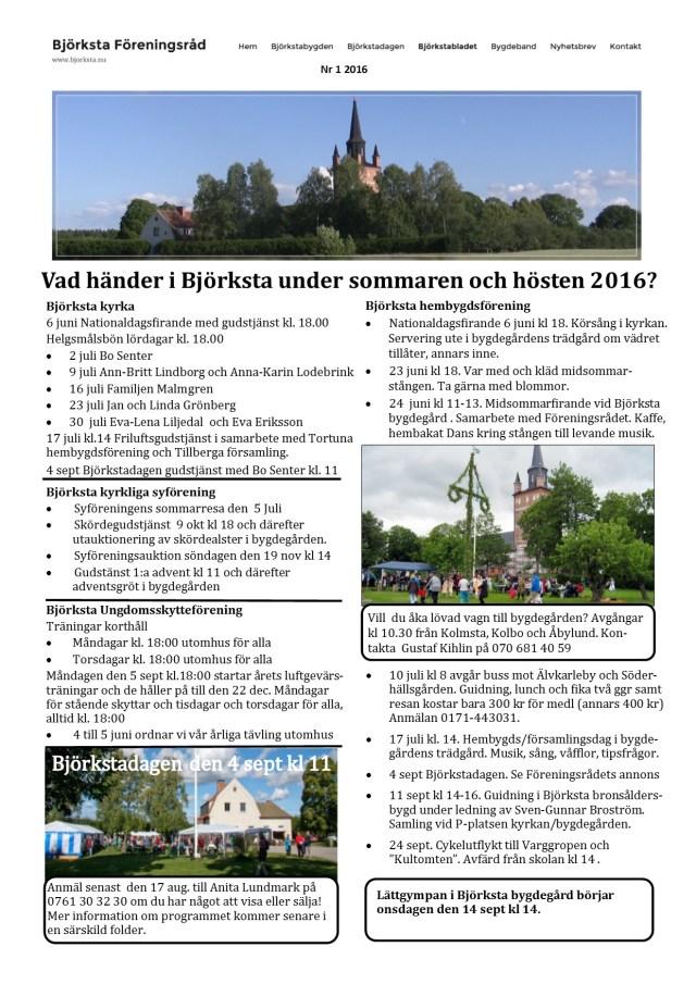 Infoblad maj 2016