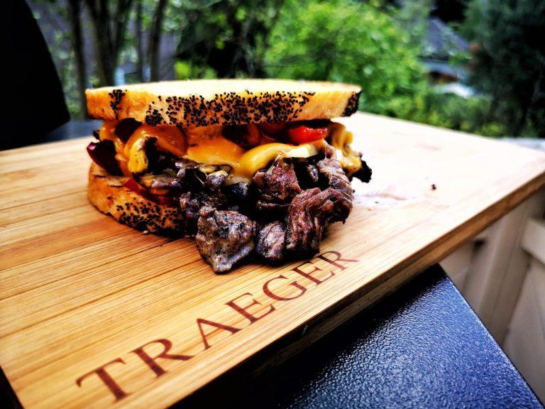 Biffsmørbrød eller steak sandwich er topp