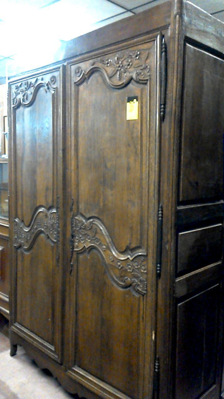 Armoire Ancienne Chene 2 Portes D'occasion Troccom