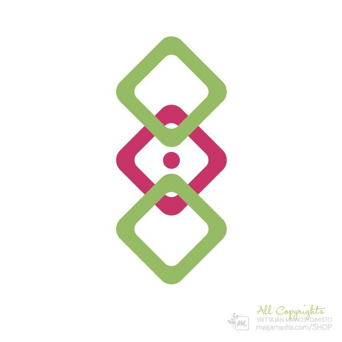 Logo: Kolminaisuus - Suunnittelija Maija Luomala