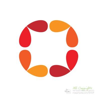 Logo: Yhteisö - Suunnittelija Henni Syrjä
