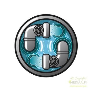 Logo: Vesilaitos - Suunnittelija Simon Geisor