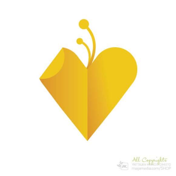 Logo: Sydän - Suunnittelija Maija Luomala