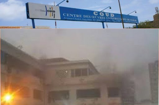 UCAD : incendie au Pavillon A après des tirs de gaz lacrymogènes