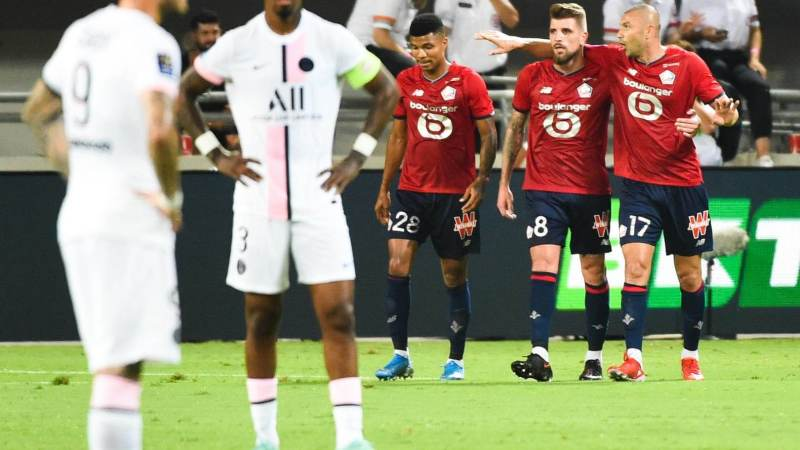 Trophée des champions : Lille vainqueur devant le PSG (1-0)