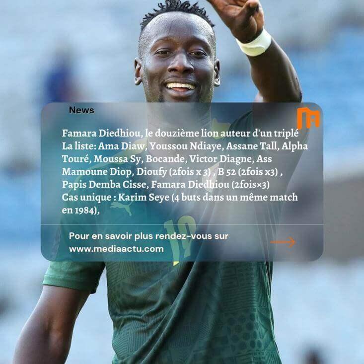 Équipe nationale duSénegal:les«Lions» auteurs de triplé