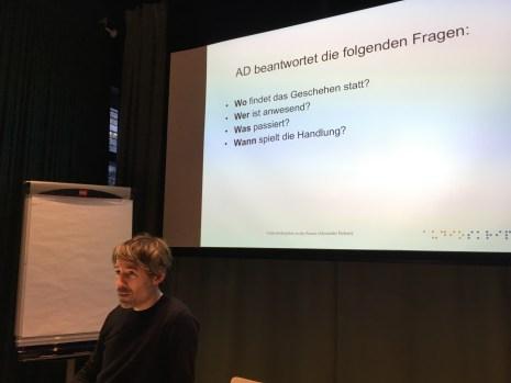 Alexander Fichert erläutert den Aufbau einer effektiven Filmbeschreibung.