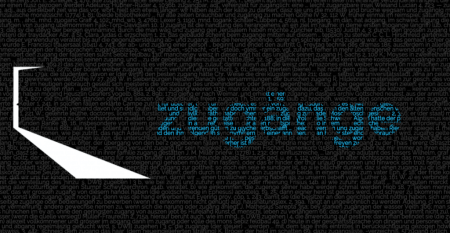 Bild zeigt schwarze Fläche mit kleingedrucktem grauen Text und blau eingefärbtem Wort Zugänge. Auf der linken Seite ist im Umriss eine leicht geöffnete Tür erkennbar, durch die Licht hereinfällt