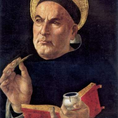 Thomas-Aquinas by Sandro Botticelli 1444-1510 held by he Granger Collection, Brooklyn, New York