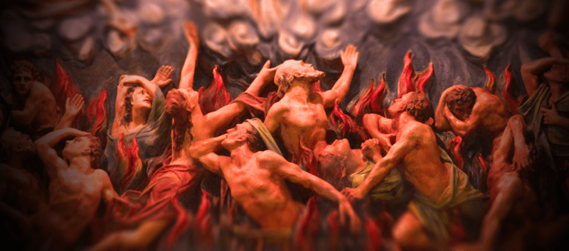 Hell - wall relief