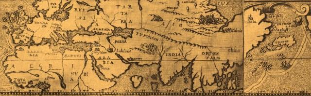 1508年作成のユーラシア大陸の古地図(部分)
