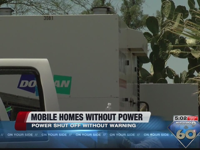 Mesa Ridge residents without electricty