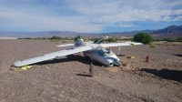 Airplane flips over on landing at Death Valley airport ...