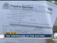 Tax certificates to be auctioned off