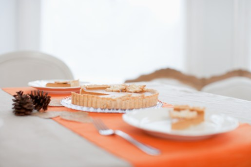 Media Bakery ID: OJO0033448 Pumpkin pie on table