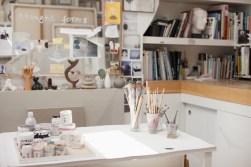 Media Bakery ID: OJO0035569 Paintbrushes in jars in art studio