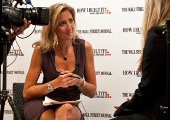 Colleen DeBaise conducts an interview for the Wall Street Journal