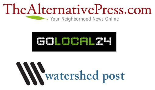 Local News Logos - TheAlernativePress.com; GoLocal24; Watershed Post