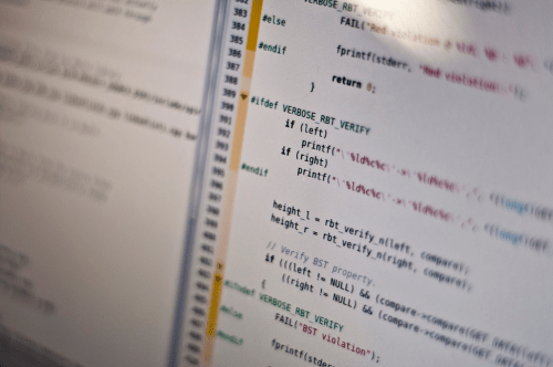 Image of coding by Michael Himbeault/Flickr; used under CC BY 2.0 License