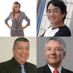 Clockwise from top left: Claudinne Caro, Ricardo Gutierrez Olguín, Armando Plata, Raul Escalante
