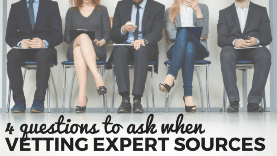 Vetting Experts Sources for Stories