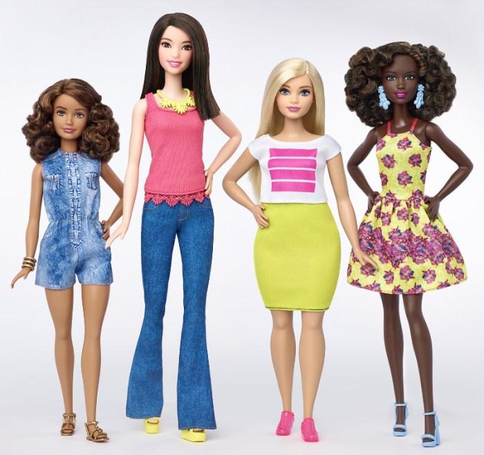 Mattel Barbie Body Types