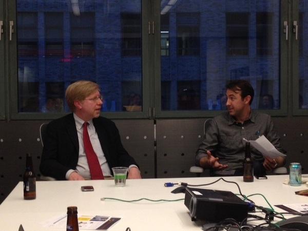 Bob Van Voris of Bloomberg News and John Hazard of Contently