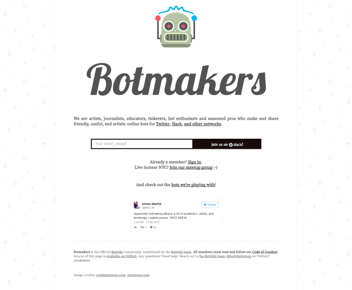 Botmakers Slack community