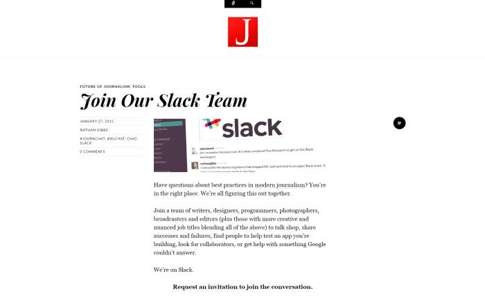 Modern Journalist Slack community